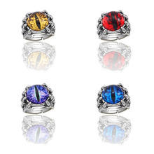Punk Retro Evil Eyes Ring Gothic Mens Rings Devil Adjustable Trend Jewelry Gifts Free Shipping