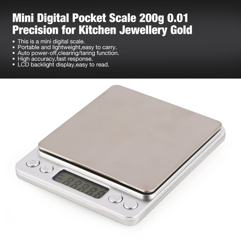 Mini Digital Pocket Scale 200g 0.01g Precision goztdwtctozgn for Kitchen Jewellery Pharmacy Tare Weighing Weight Measure