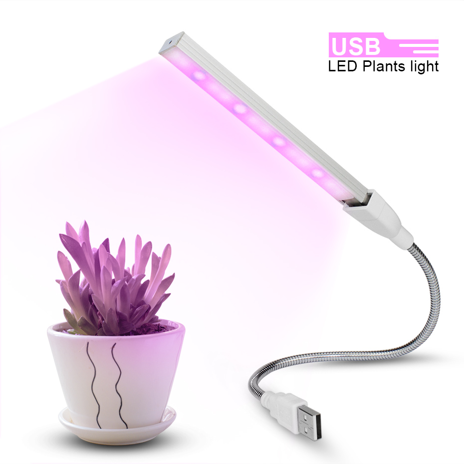 Portable Mini USB Led Grow Light Bar Strip Lamp Bulb For Hydroponic Plant Flower