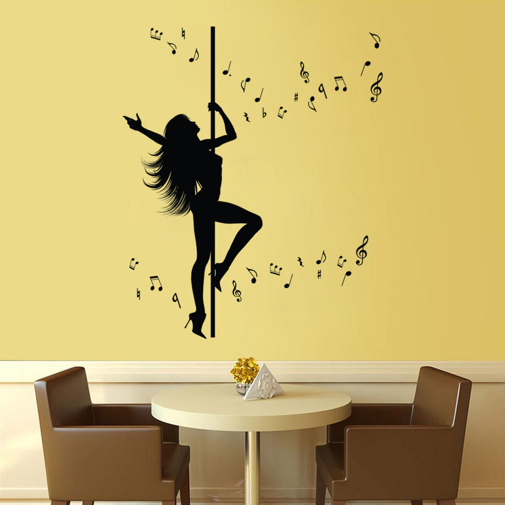 New Caved Dancing Women Wall Stickers Extra Large 127X106CM Wall Art ...
