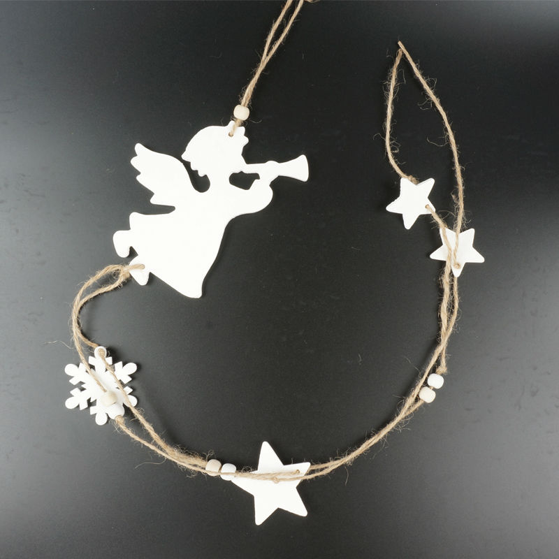 angel hanging decoration children day decor 1pc white wood angel star party decoration supplieschina - Angel Decorations