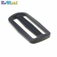 1000 шт./упак. 60 мм лямки Пластик Curve слайдер Tri Glide Отрегулируйте tri кольцо пряжки рюкзак ремни черный