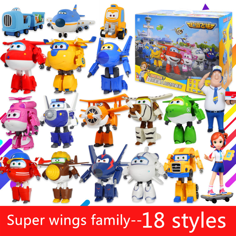 18 styles New Arrival 15CM Super Wings Toys Mini Planes Transformation robot Action Figures Toys For Christmas gift/50 12pcs set children kids toys gift mini figures toys little pet animal cat dog lps action figures