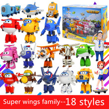 18 styles New Arrival 15CM Super Wings Toys Mini Planes Transformation robot Action Figures Toys For Christmas gift/50