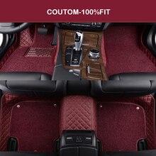 цена на HLFNTF Double Custom car floor mats For Chevrolet cruze aveo captiva lacetti Sail Malibu Automatic TRAX LOVA car accessorie