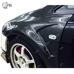 Błotnik węglowy do FD2 Civic JS Racing FRP włókno szklane przedni wentylowany błotnik (Wide20mm) do części karoserii Civic FD2 z włókna szklanego|Zderzaki|Samochody i motocykle -