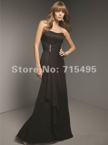 cheap sale sweetheart beading chiffon long black party