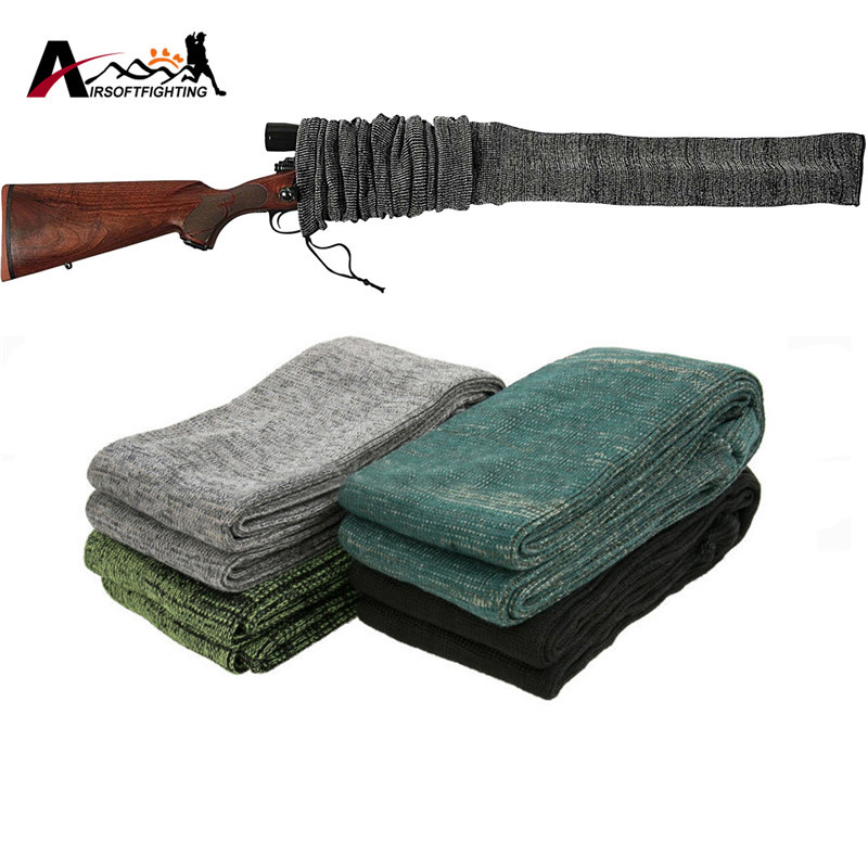 54 silicone treated gun sock polyester rifle shotgun for Fishing rod socks
