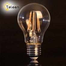 E27 Edison LED Filament Bulb Glass Housing Light Lampada AC 110V/220V 4W 8W 12W 16W Vintage Round G45/A60  Chandelier EBA247 цена