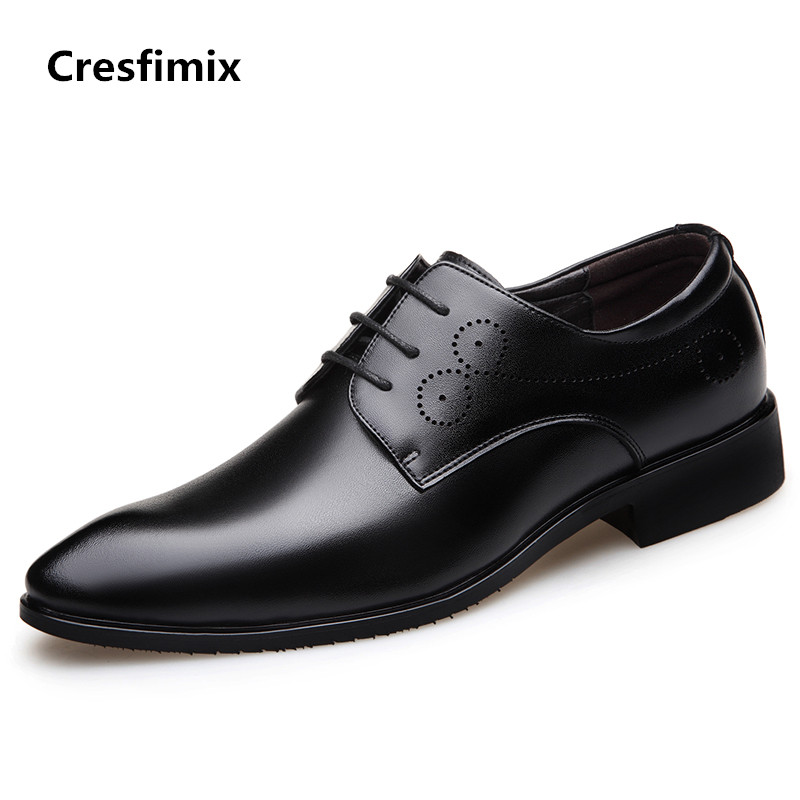 Cresfimix zapatos hombre man casual black spring & summer business shoes male cool comfortable shoes men brown shoes b2931