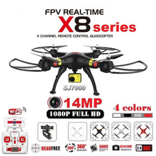 Asli SYMA X8G X8C X8W X8HG RC Drone Dengan SJ7000 14MP 1080 p Full HD WiFi Kamera 2.4G 4CH FPV Quadcopter Drone Profesional