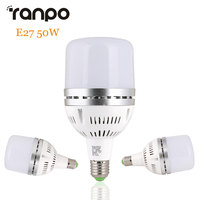 E27 50วัตต์LEDลูกโลกหลอดไฟ3030 SMD S Potlightพลังงานสูงไฟสปอร์ตไลท์โคมไฟเย็นสีขาว6500พันการประชุม