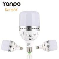 E27 50ワットledグローブ電球ライト3030 smdスポットライト高電力スポットライトランプクールホワイト6500 kワークショップ工場照