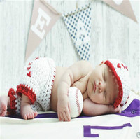 2016 Hot Sale New Born Baby Photography Props Sweet By Hand Knitting Cute Baby Hat And