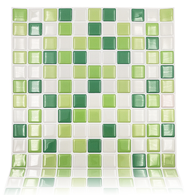 Mosaic Design DIY Peel And Stick Tile For Kitchen Backsplash Art Decor Wall  Sticker   Pack