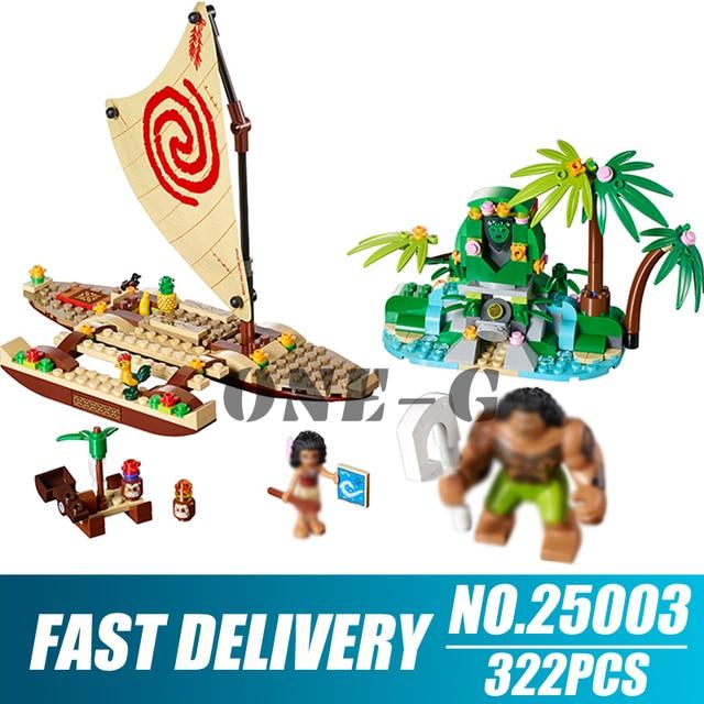 Bausteine 25003 Kompatibel lepining Freunde 41150 Ziegel Prinzessin Moana der Ozean Voyage figuren spielzeug für kinder