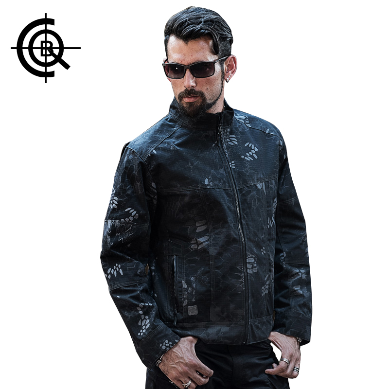 ФОТО CQB Outdoor Tactical Jacket Hooded Men Windproof Waterproof Jacket Hiking Camping Fishing Clothes Hunting Clothes PLY-FJ013