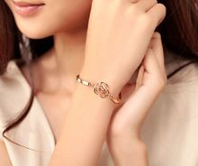 New Korean edition jewelry rose camellia zircon female bracelet