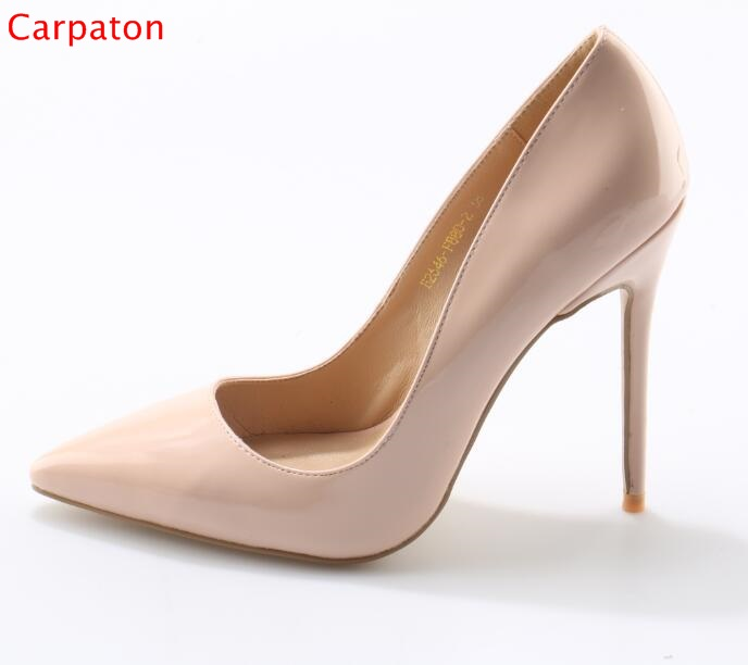 Newest Sexy Pointed Toe Woman Pumps Shoes Woman Thin High Heels Slip On Stiletto Woman Dress Shoes Zapatos Mujer Big Size стоимость