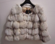Free shipping Genuine natural Fox Fur Coat women's real Fur Jacket winter warm luxury  waistcoats plus size