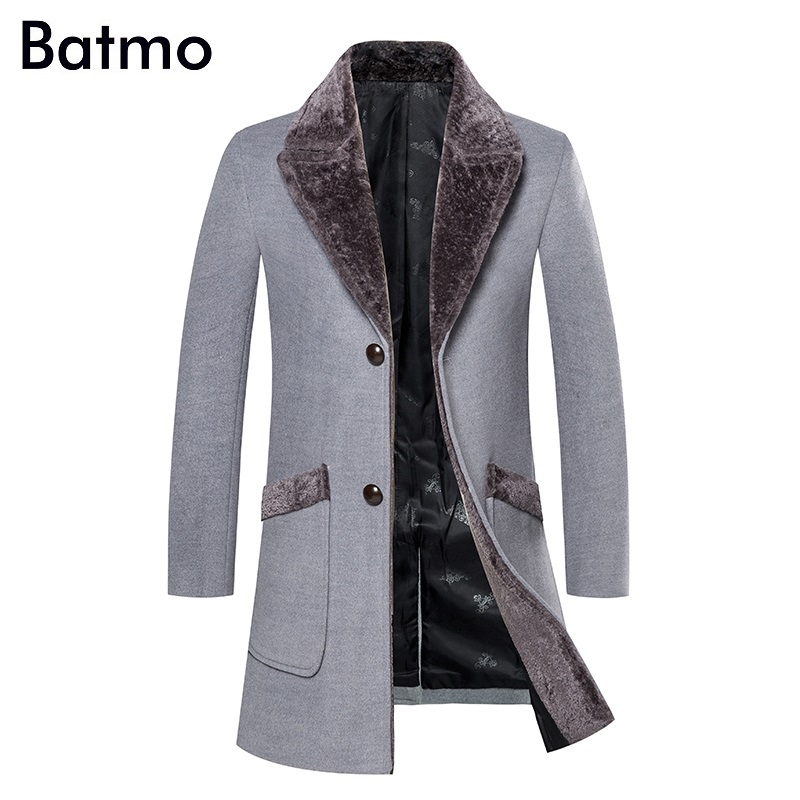 Batmo 2019 new arrival winter high quality casual trench coat,men's winter jackets ,winter coat plus-size DY3919