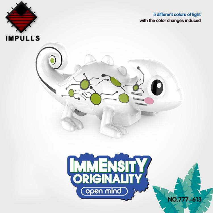 Impulls 777-613 Pen Inductive Car Chameleon Animal Car Pet Game Interactive Toys Interactive Pet Novelty Toy For Kids FSWB