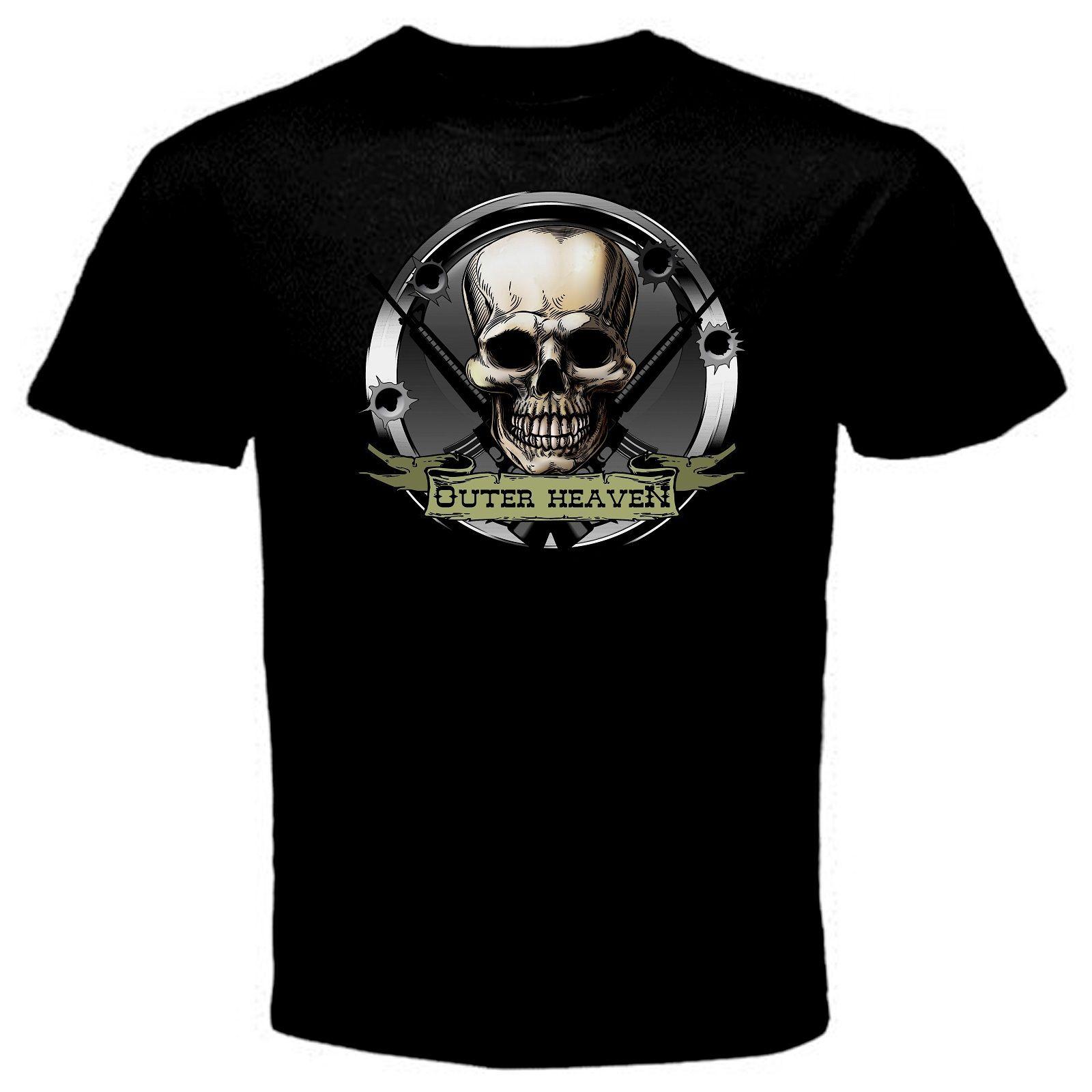 Outer Heaven Metal Gear Online Game T Shirt Black Basic Tee