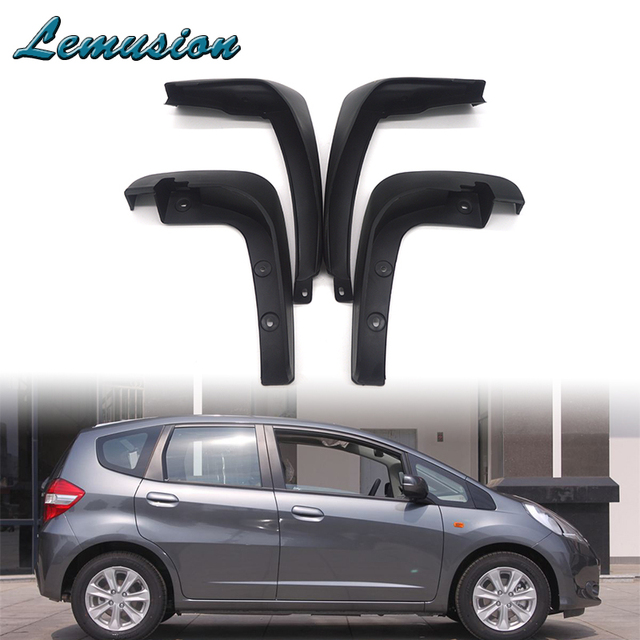 1Set Car Front Rear Mudguards For Honda Fit / Honda Jazz 2011 2012 2013  Hatchback Accessories