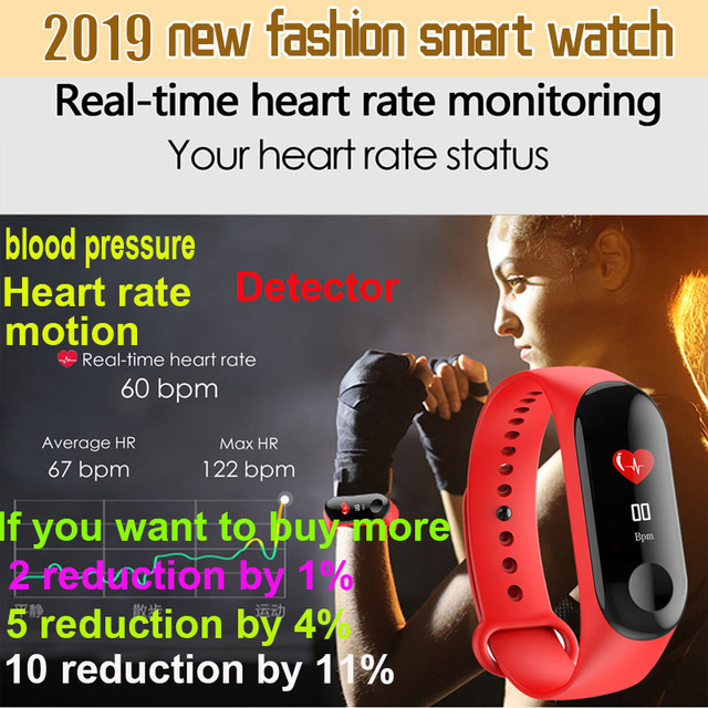 2019 digital Watch Men Women smart wrist watches Blood Pressure Sleep heart rate monitor sport wristband watch ip67 waterproof