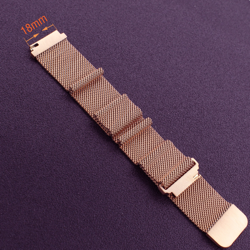 Milanese Loop Magnet Band Strap for Watch Stainless Steel Rose Gold Black Siver Clasp Bracelet Soft Watchband 20mm 18mm neway stainless steel milanese watch band strap wrist watchband wristwatch buckle black rose gold silver 18mm 20mm 22mm 24mm