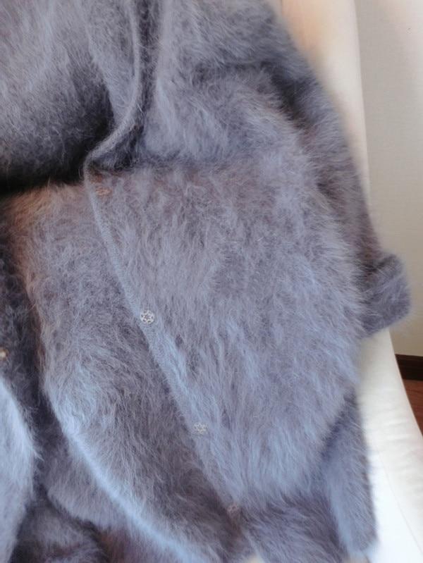 Kadın Giyim'ten Hırkalar'de Kadın Kapşonlu % 100% Vizon kaşmir ceket Kazak kukuleta ile hakiki vizon kaşmir kazak kadınlar uzun kaşmir örme tbsr290'da  Grup 3