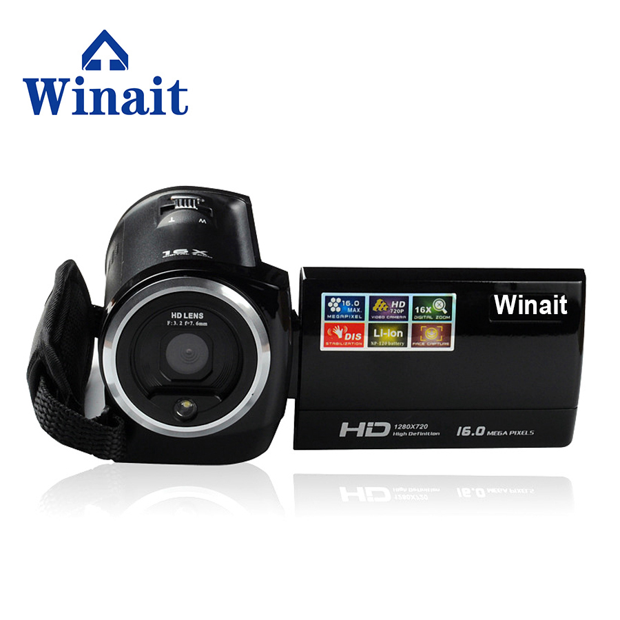 Winait Free Shipping 16 Mp Max 720P HD 16 X Zoom Digital Video Camera Digital Camcorders with 2.7 LCD Screen Lithium Battery image