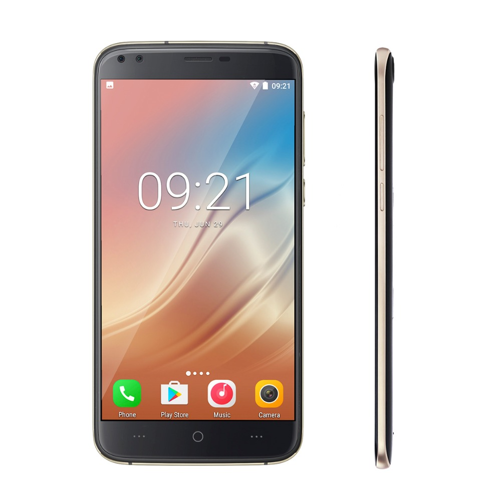 bilder für Doogee X30 Android 7.0 5,5 zoll Handy MTK6580 Quad Core 2 GB + 16 GB Handy 3360 mAh Batterie 4 Kameras 3G GPS Smartphone