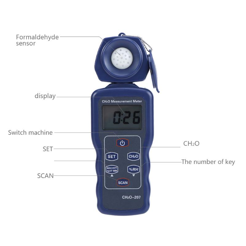LCD Digital Smart Formaldehyde Gas Detector Gas Meter CHO Gas Detector Humidity