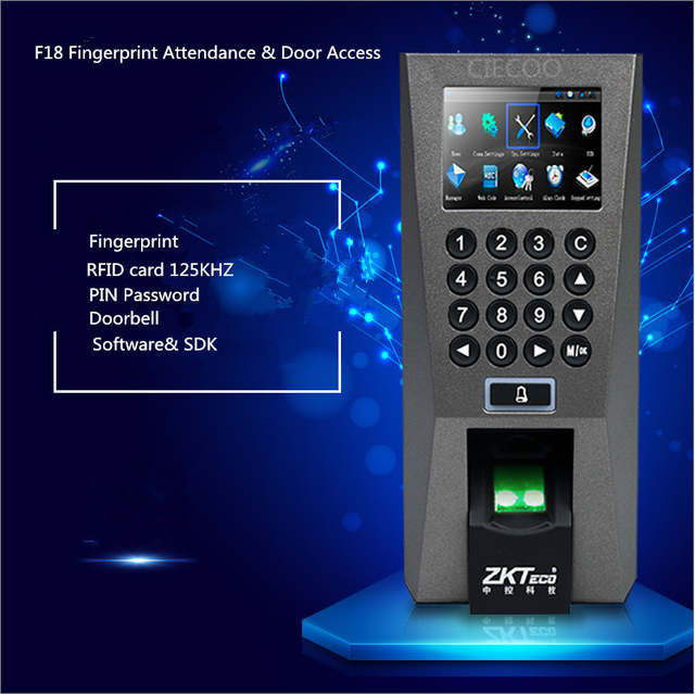 US $148 0  ZKTeco F18 Access Control Time Attendance Recognition System ZK  5 0 Time Attendance System USB Fingerprint Scanner with SDK-in Fingerprint
