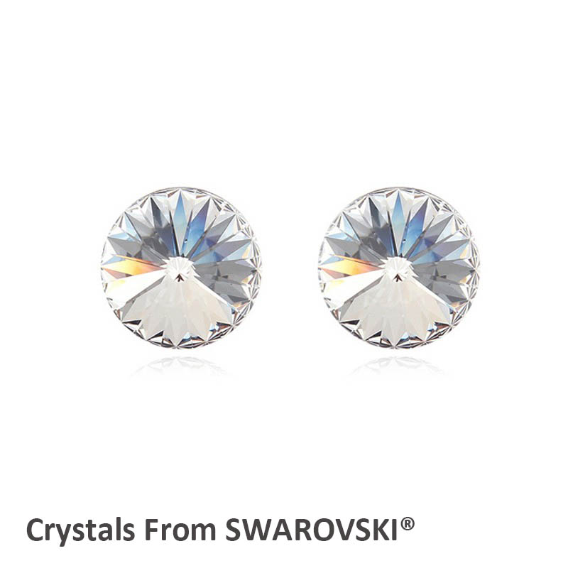 Ms Betti Cute simple design SS39 Round rivori crystal stud earring with  Crystal from SWAROVSKI elegant gift for women graduation 77b716405ff9
