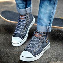 Men Denim Casual Shoes 2019 New Spring Male Breathable Sneakers Fashion Skate Shoe Man Classic Canvas Tourist Shoes