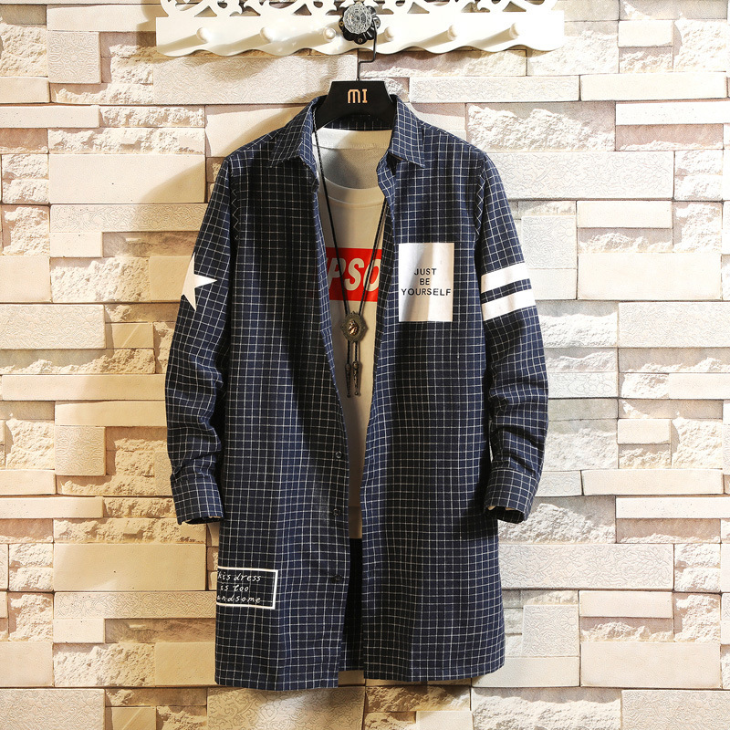 0165 Spring Long Shirt Men Letters Print Hip Hop Shirt High Street Harajuku Streetwear Mens Casual Shirts Long Sleeve in Casual Shirts from Men 39 s Clothing