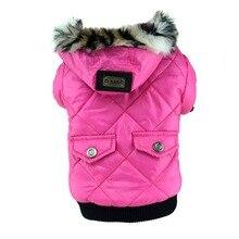 Лидер продаж, зимнее теплое пальто для собак, для домашних животных, с искусственными карманами, Толстовка для щенка с котом, куртка, костюмы, одежда, XS-XXL