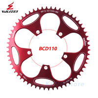 WUZEI Road Bicycle Bike Chainring 110 BCD Crank 50T 52T 54T 56T 58T Chainwheel Alloy Ultralight Climbing Power Plate Parts