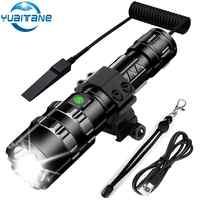 Najmocniejsza latarka taktyczna LED ultra jasny USB akumulator wodoodporna Scout lekka latarka oświetlenie na polowanie 5 trybów przez 1*18650