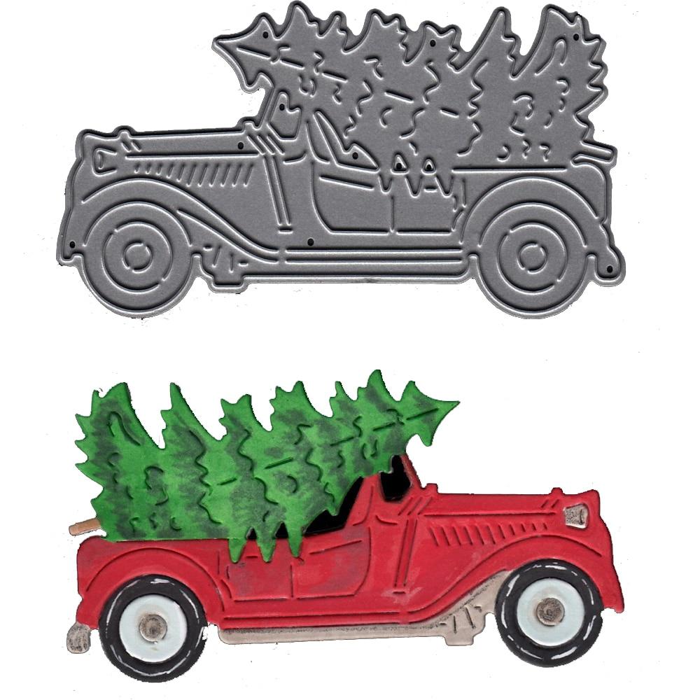 Car Cutting Dies Stencil For DIY Scrapbooking Album Paper Card Embossing Crafts