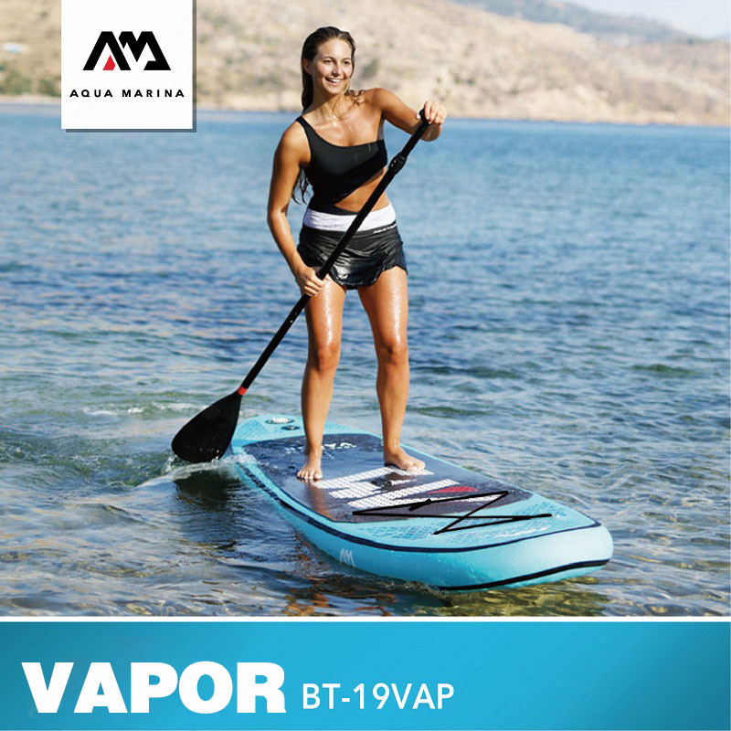 AQUA MARINA VAPOR SUP Surf Paddle Board Standing Surf Board Water Inflatable Surfboard 300*76*12cm Stroke Surfing Water Sport