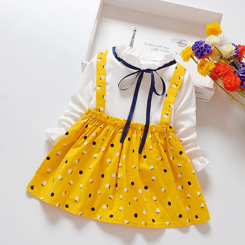 2018 Autumn Baby Girls Clothing Infant Baby Girl Dress Cotton Long Sleeve Toddler Dress