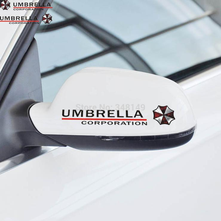 Aliauto 2 X Umbrella Corporation Accessories Reflective Car Rearview Mirror Sticker Decal for Vw Golf Polo Audi Bmw Ford Focus комплект адаптеров ford focus 1 audi a4 до 2000