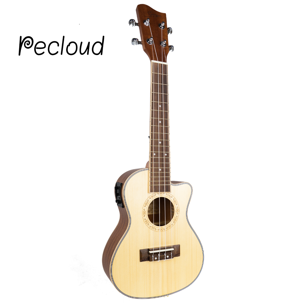 22ulele 26 Inch Guitar 4 Strings Ukelele Guitarra Handcraft Wood White Guitarist Mahogany Plug-in Uke soprano concert tenor ukulele 21 23 26 inch hawaiian mini guitar 4 strings ukelele guitarra handcraft wood mahogany musical uke