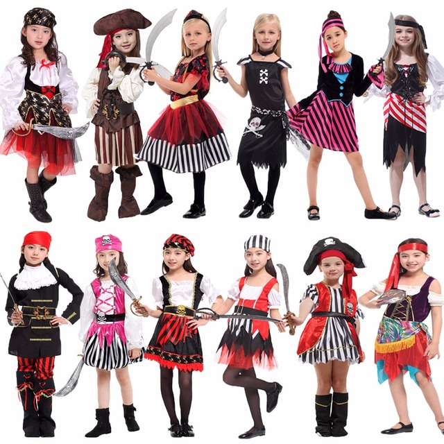 Umorden Halloween Carnival Party Costume for Girl Girls Kids Children  Pirate Costumes Fantasia Infantil Cosplay Clothing 6288e2f9217b