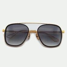 Armação de Titânio puro Óculos De Sol Dos Homens Designer de Marca de Alta Qualidade Eyewear Oculos de sol Masculino 2018 Nova Moda Retro Quadrado