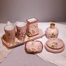 Набор керамических кружек в европейском стиле, высококачественные принадлежности для ванной, приборы, креативный Американский набор для мытья, свадебный подарок LO726717