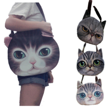 Cute Cat Puppy 3D Printing Women Handbag Tote Bags Traveling Shopping for Personality lovely Dog Shoulder